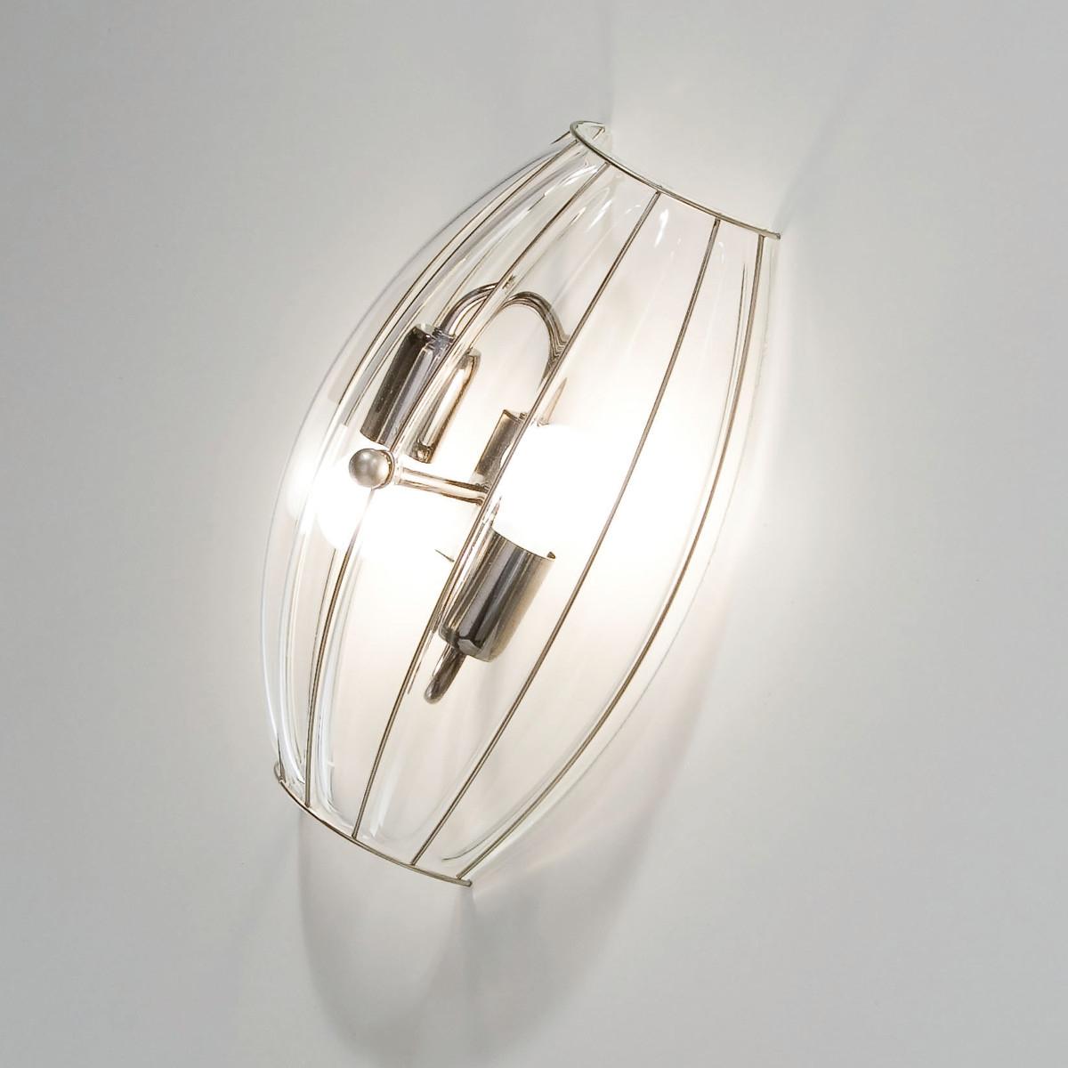 applique murale deux ampoules au design moderne et en verre souffl de murano. Black Bedroom Furniture Sets. Home Design Ideas
