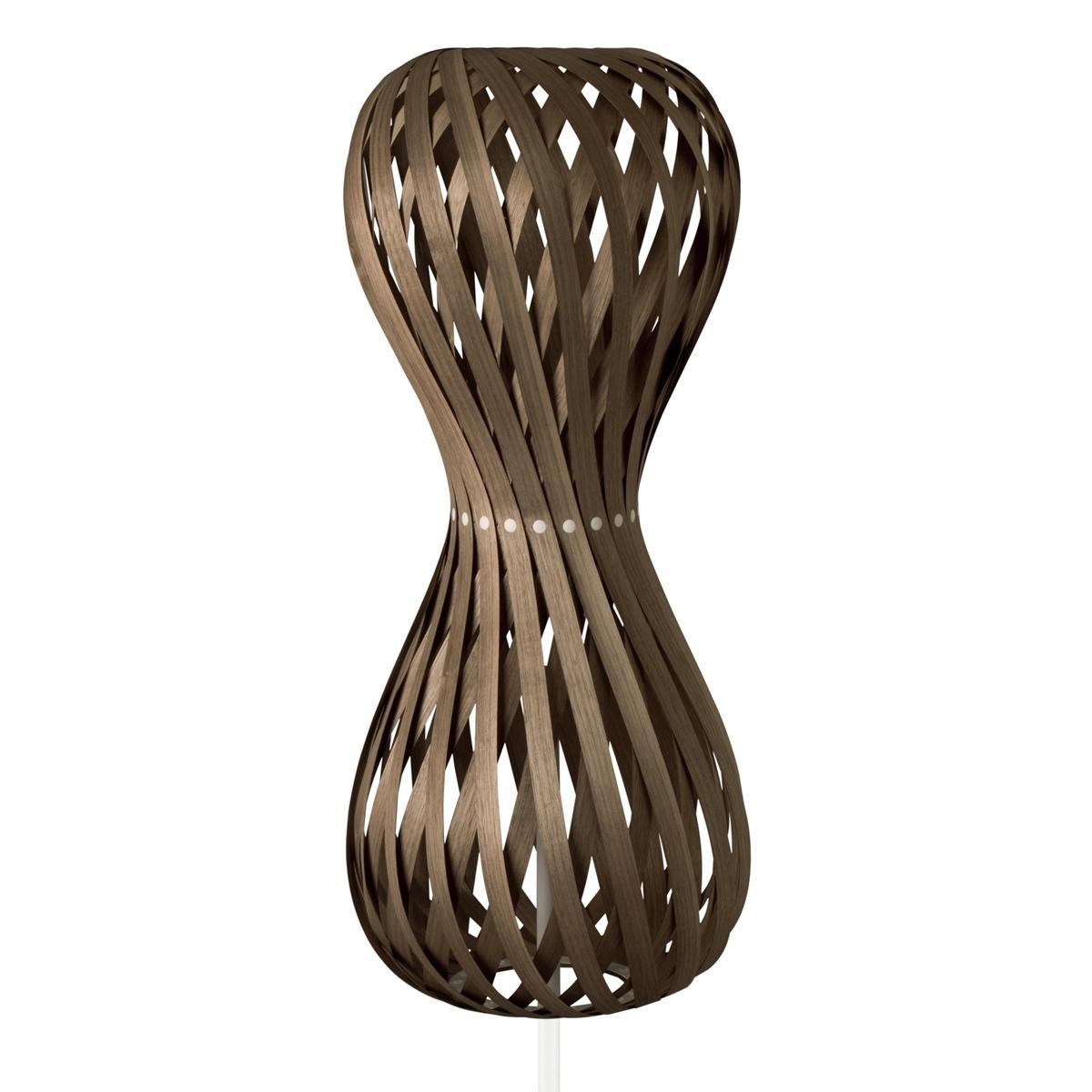 Lampadaire contemporain en bois en forme de sablier