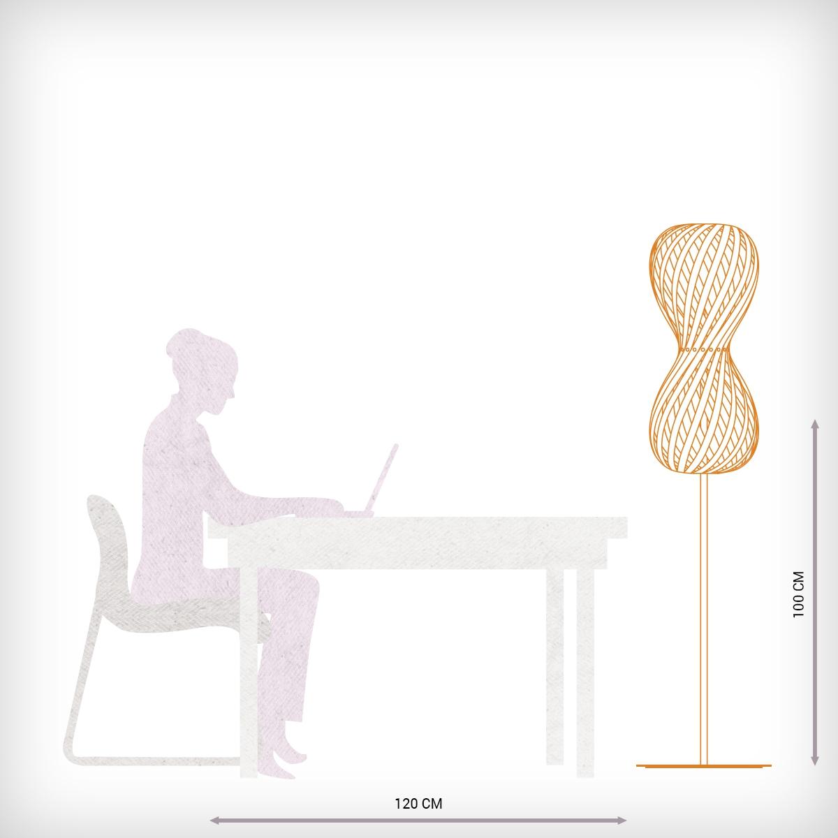 lampadaire contemporain en bois en forme de sablier. Black Bedroom Furniture Sets. Home Design Ideas