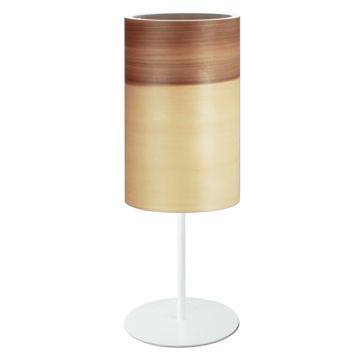 Lampe poser cylindrique au design minimaliste en bois for Lampe a poser bois