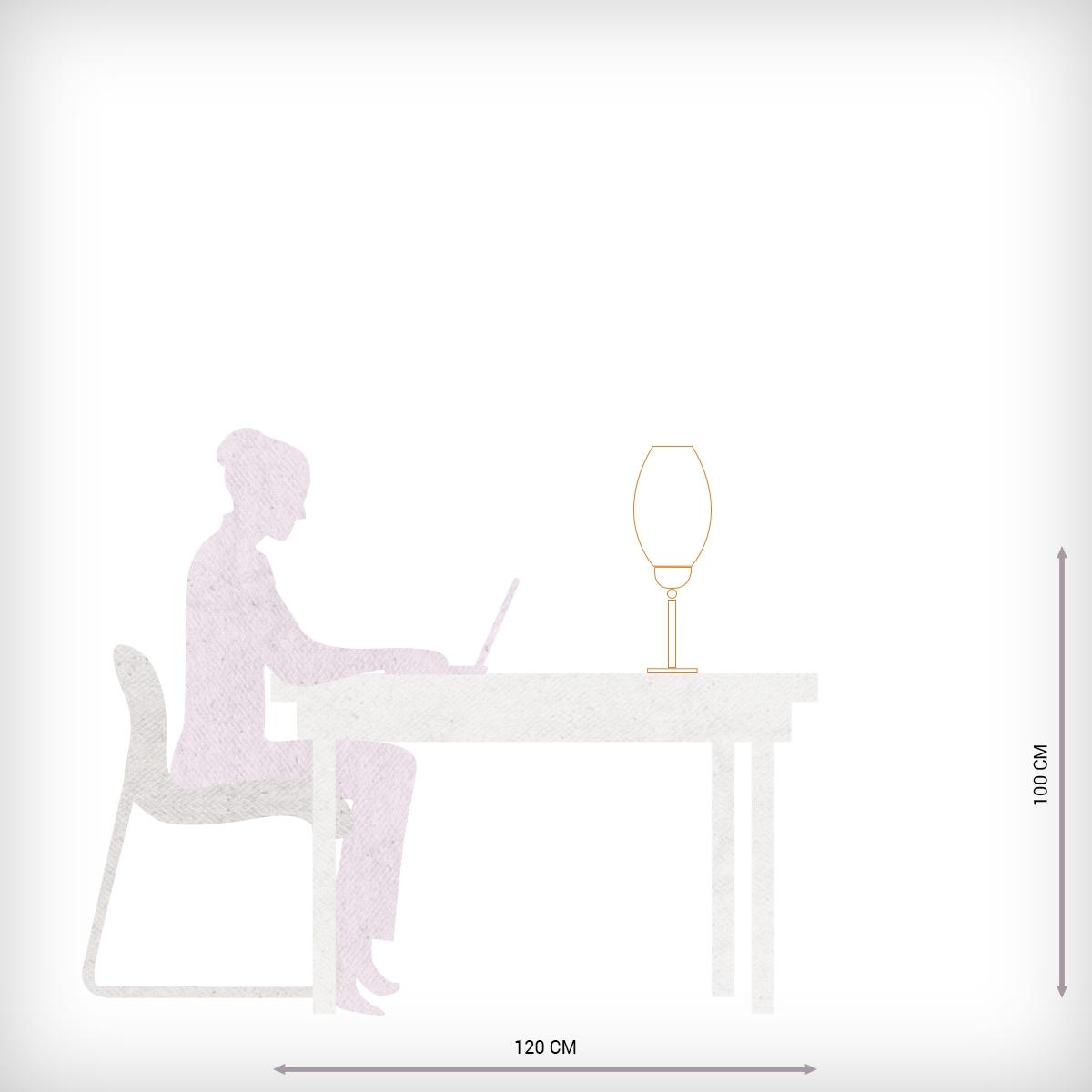 Chevet Transparent Un Avec Lampe Murano De Diffuseur Verre En qUzMpSV