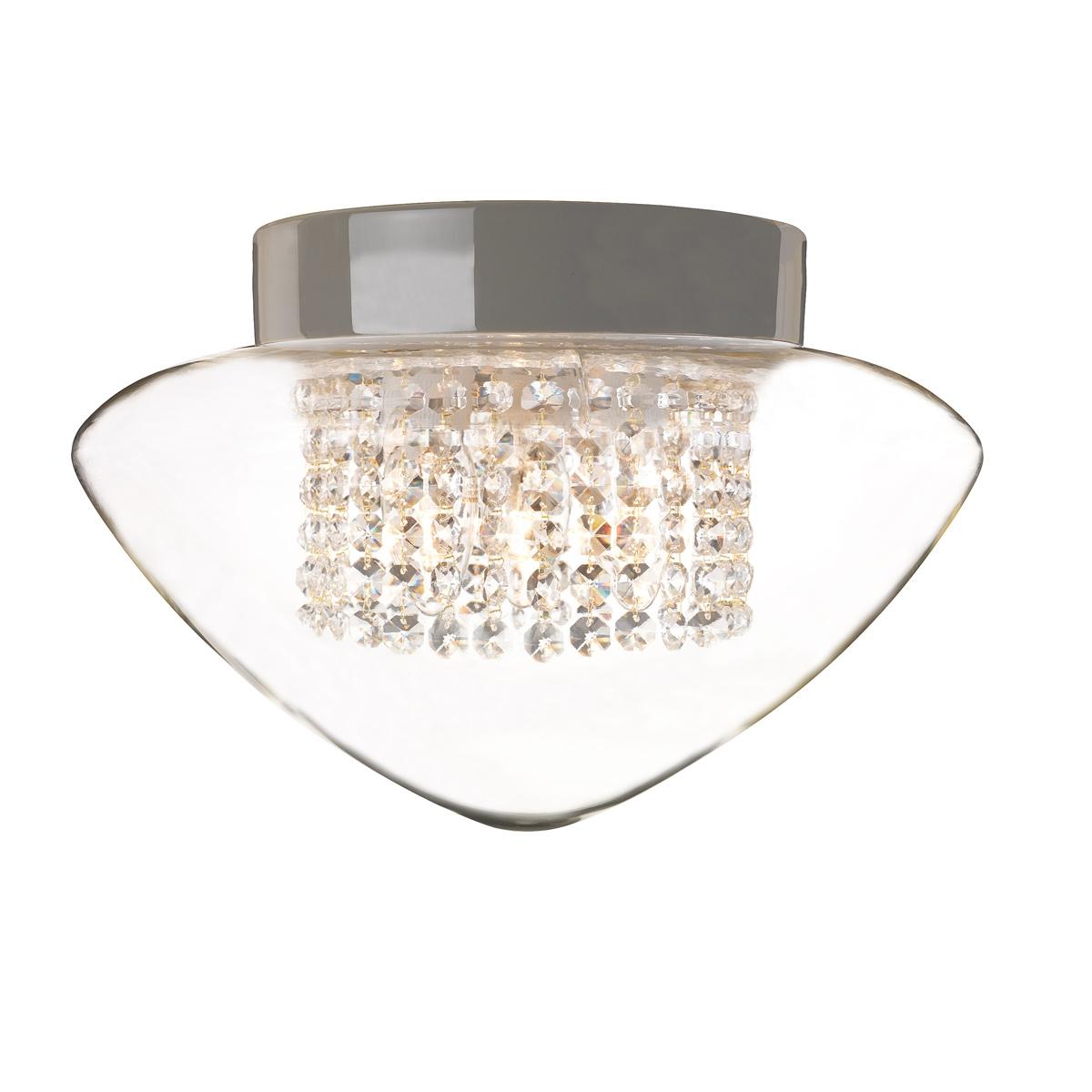 plafonnier moderne en c ramique pour salle de bains avec gouttes en verre cristal. Black Bedroom Furniture Sets. Home Design Ideas