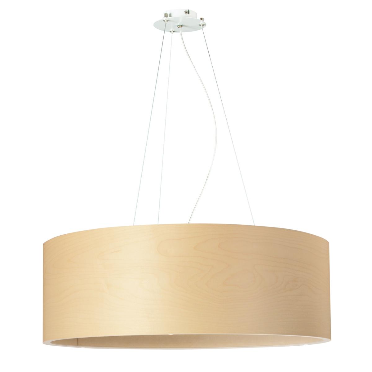 grande suspension cylindrique avec abat jour en bois au design classique et intemporel. Black Bedroom Furniture Sets. Home Design Ideas