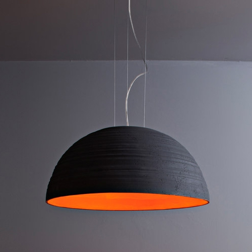 Grande suspension demi sph re en c ramique disponible en for Modele luminaire suspension