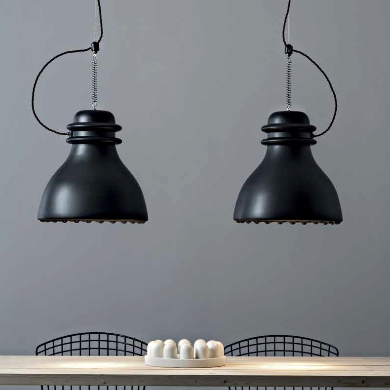Grande suspension battersea de style industriel r alis e en c ramique - Suspension type industriel ...