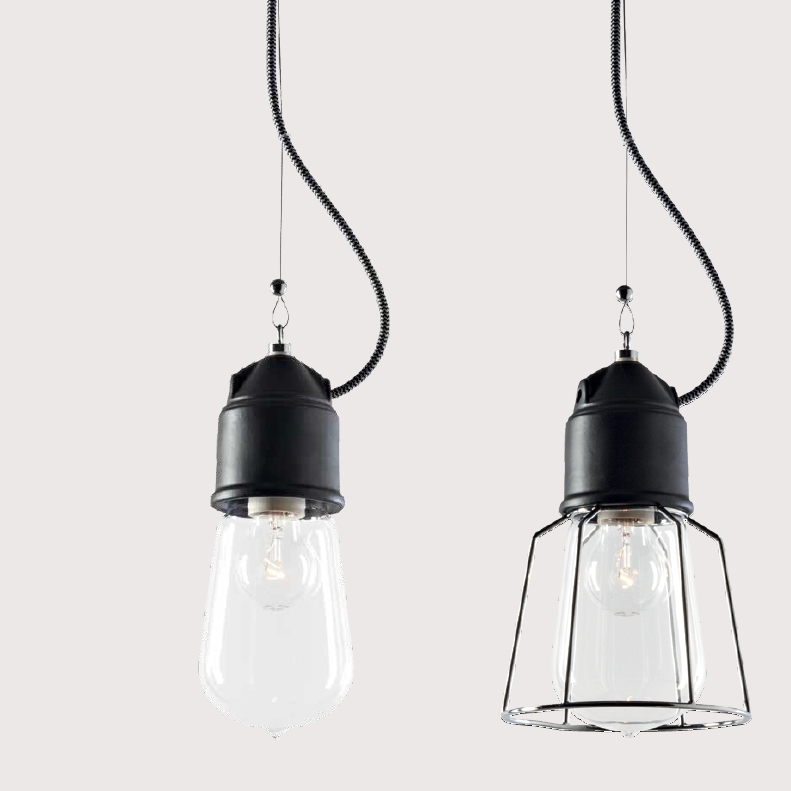 Suspension ampoule au design industriel en c ramique de nombreuses options d - Suspension ampoule design ...