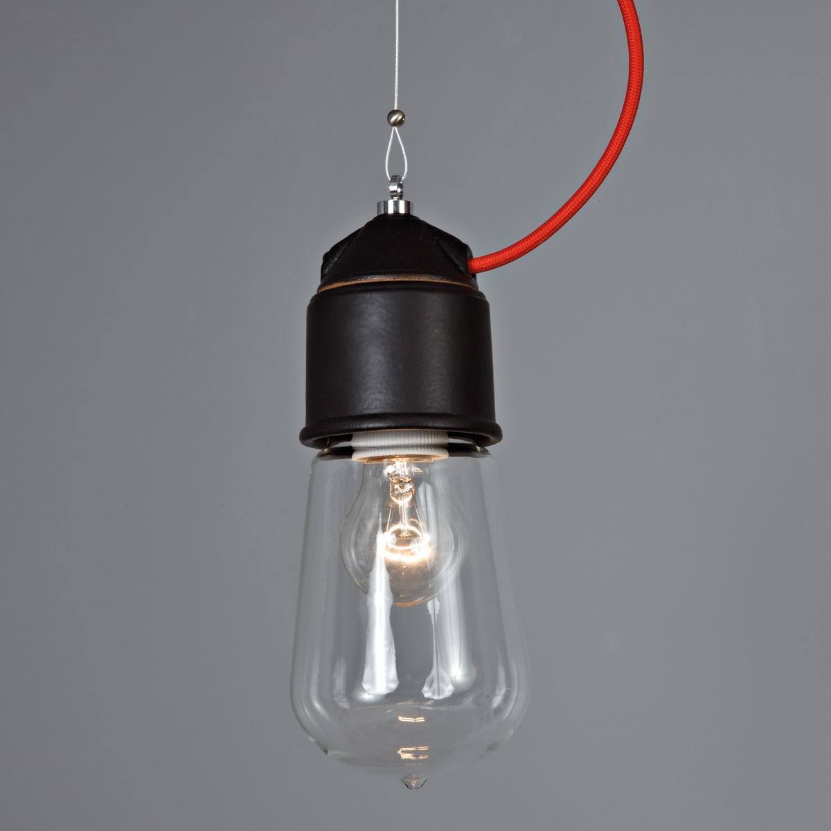 Super Suspension ampoule au design industriel en céramique. De  RL49