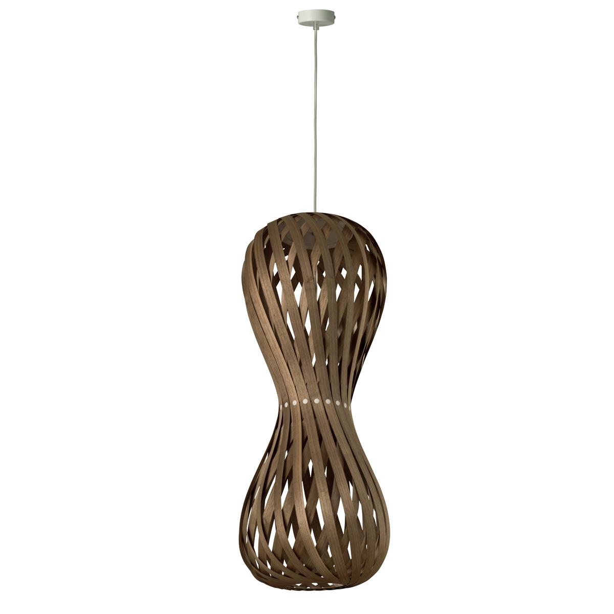 suspension contemporaine en bois en forme de sablier. Black Bedroom Furniture Sets. Home Design Ideas