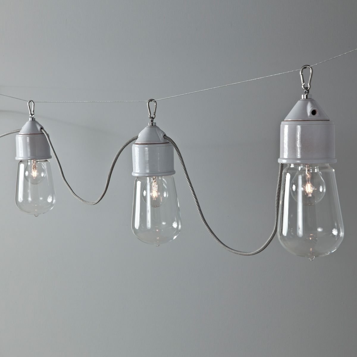 Suspension multiple ampoule sur c ble lampe de style industrielle - Suspension multiple ampoule ...