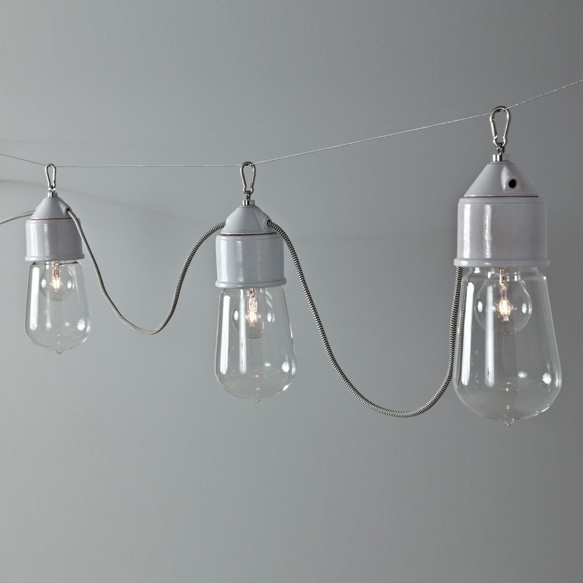 suspension multiple ampoule sur c ble lampe de style. Black Bedroom Furniture Sets. Home Design Ideas