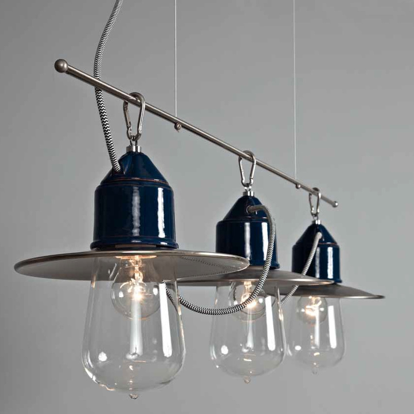 Suspension ampoule multiple solitario de style industriel - Luminaire plafonnier style industriel ...