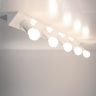 Rampe lumineuse sept ampoules avec finition chrome