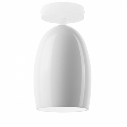 Plafonnier avec verre blanc brillant