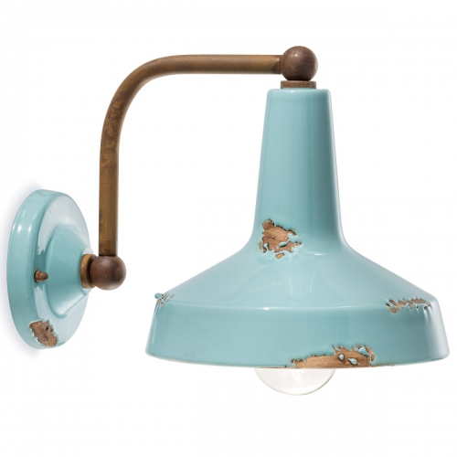 Applique en céramique bleu azur