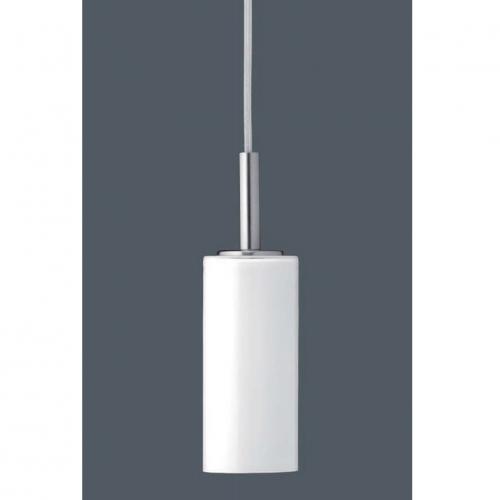 Petit suspension en verre blanc