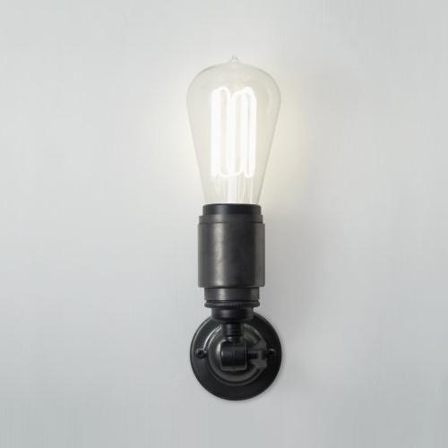 Applique murale ampoule minimaliste avec finition bronze antique noir