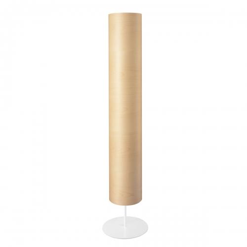 Lampadaire cylindrique avec abat-jour en érable