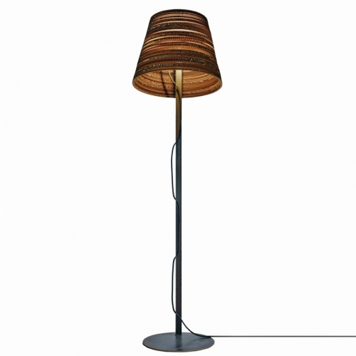 lampadaire moderne avec abat jour en carton recycl. Black Bedroom Furniture Sets. Home Design Ideas