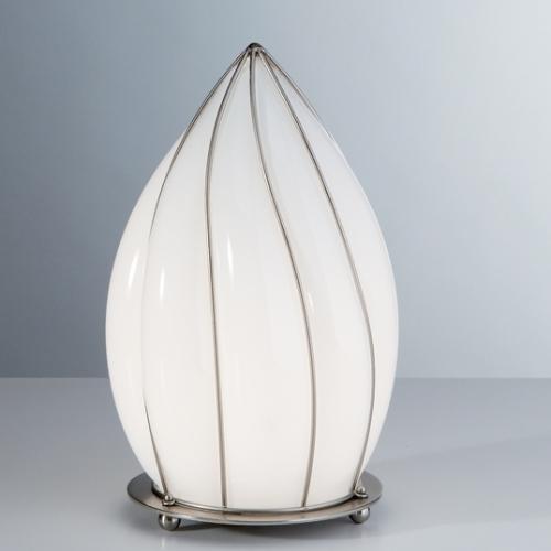 Lampe poser en forme de goutte lampe contemporaine en verre souffl de mur - Lampe a poser contemporaine ...