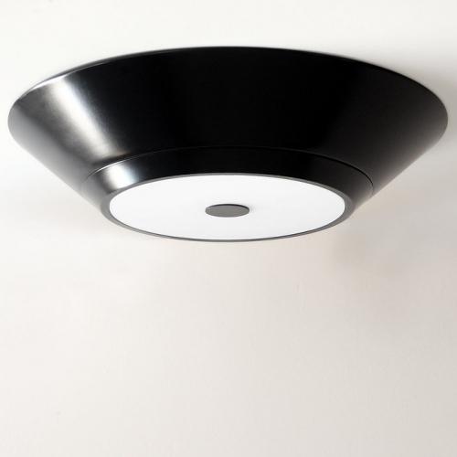 Grand plafonnier cylindrique rétro avec finition noir