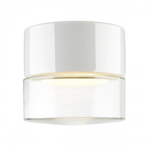 Support en céramique blanc avec verre transparent