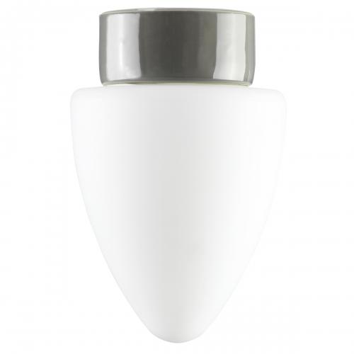 Plafonnier au design épuré en verre et en céramique