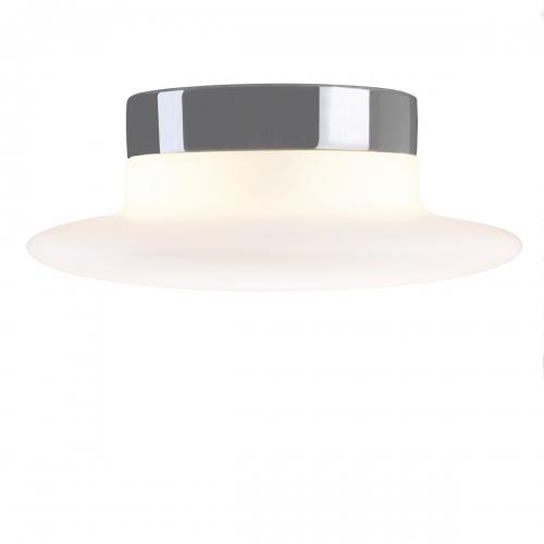 Plafonnier intemporel avec socle en céramique gris brillant