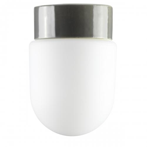Plafonnier minimaliste en verre avec support en céramique gris