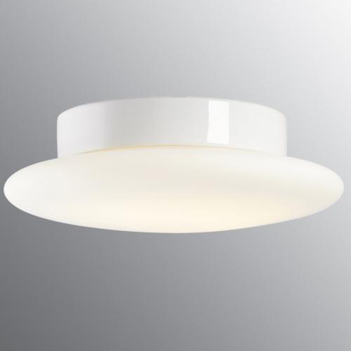 Plafonnier avec module LED, socle en céramique blanc brillant