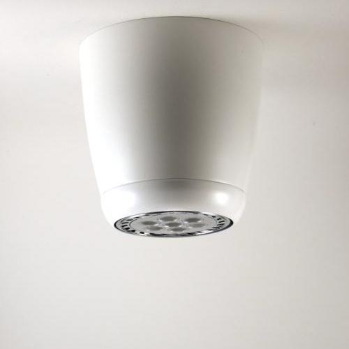Plafonnier rétro phare de moto en métal avec finition blanc, avec ampoule LED