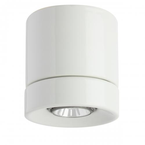 Spot cylindrique moderne en céramique blanc brillant