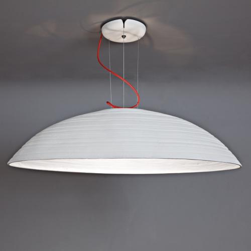 """Grande suspension avec couleur intérieure et extérieure blanc """" Plâtre """""""