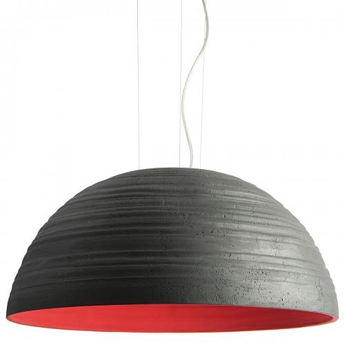 """Suspension avec couleur extérieure gris foncé et couleur intérieure orange """" Corail """", modèle de 60cm"""