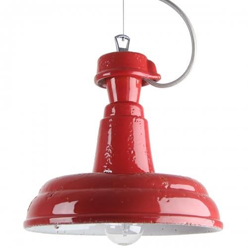 """Suspension industrielle petit modèle avec couleur rouge """" Carmin """""""