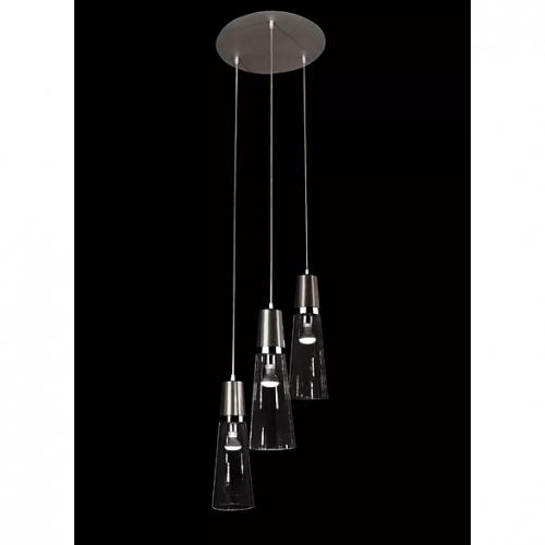 Suspension multiples avec trois lampes