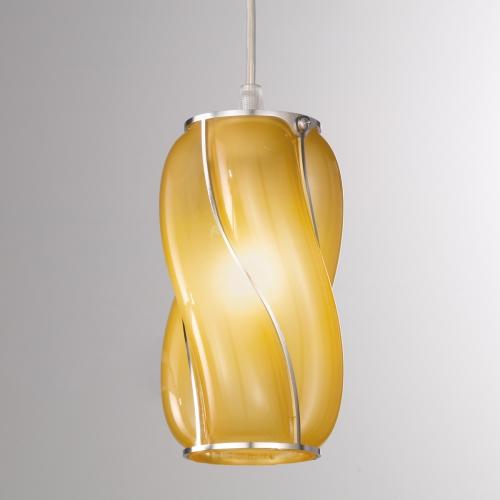Suspension avec verre de couleur ambre opaque