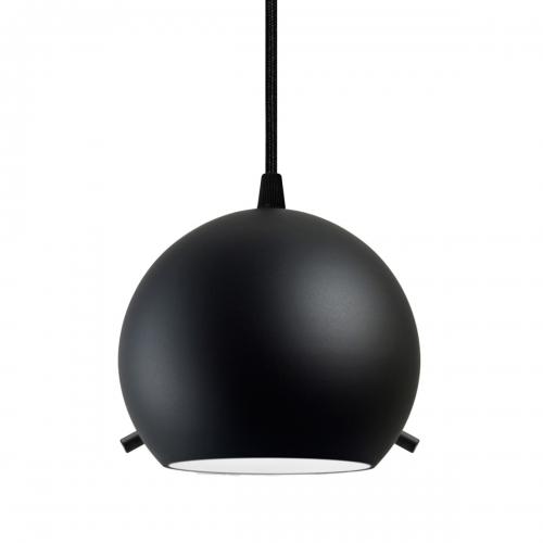 Suspension multiple rétro avec abat-jour noir mat, pièces métalliques noire, câbles électrique noir
