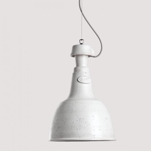 Suspension industrielle en c ramique en forme de cloche for Suspension plusieurs abat jour