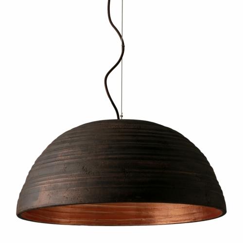 """Suspension demi sphère avec couleur intérieure et extérieure blanc """" Plâtre """""""