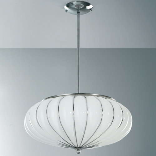 Suspension de diamètre 48 cm avec finition blanc opaque