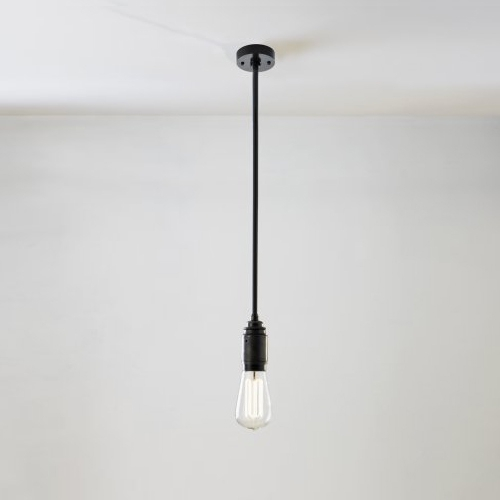 Suspension tube ampoule au design minimaliste lampe en for Suspension 4 ampoules